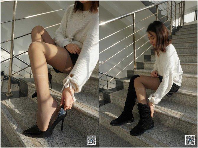 [妖精视觉] 苏苏-长靴&高跟,双色丝袜。