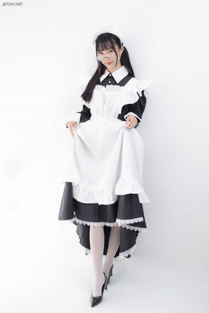 [森萝财团] 017 小梓 眼镜白丝女仆