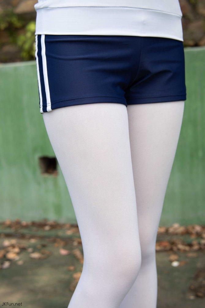 [森萝财团] 019 Aika 80D白丝外景体操服