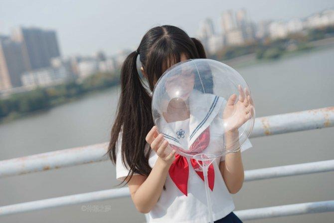 轻兰映画 SPL.012 JK黑丝平底鞋