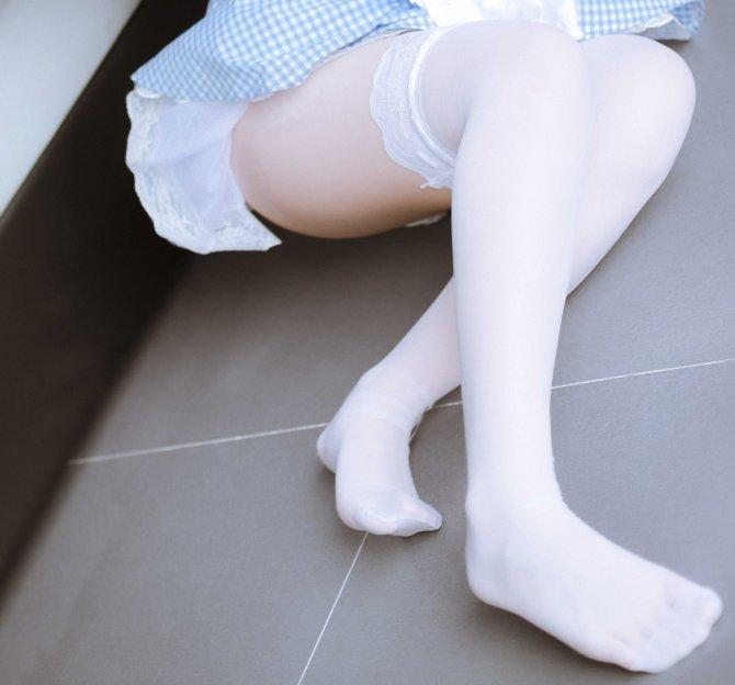 蓝色女仆46P