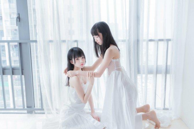 桜桃喵NO.064朝(白裙×白裙)58P-724MB58P
