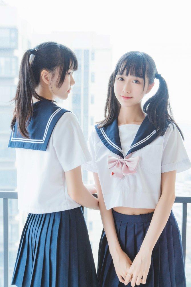 桜桃喵NO.067她(制服×制服)38P-741MB38P