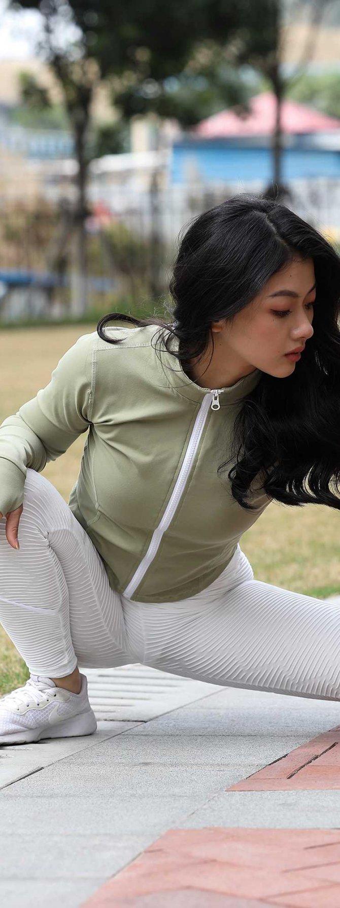 [2P]296.白色健身裤