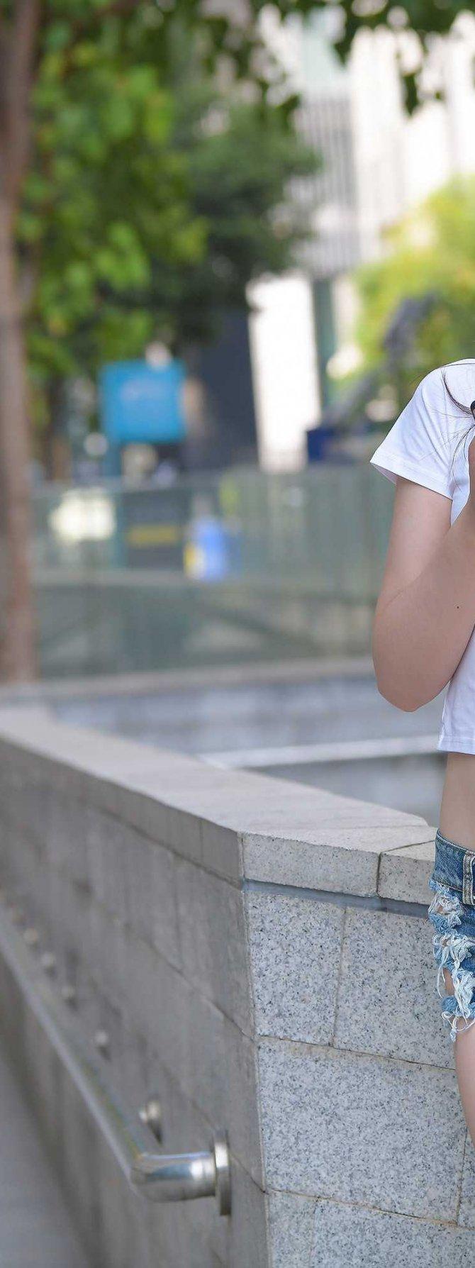 [3P]208.热裤长腿美女