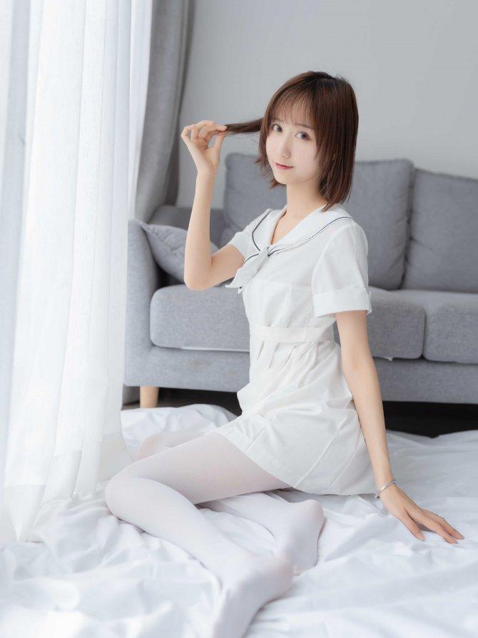 喵糖映画 VOL.271 纯色白裙 [39P-112MB]