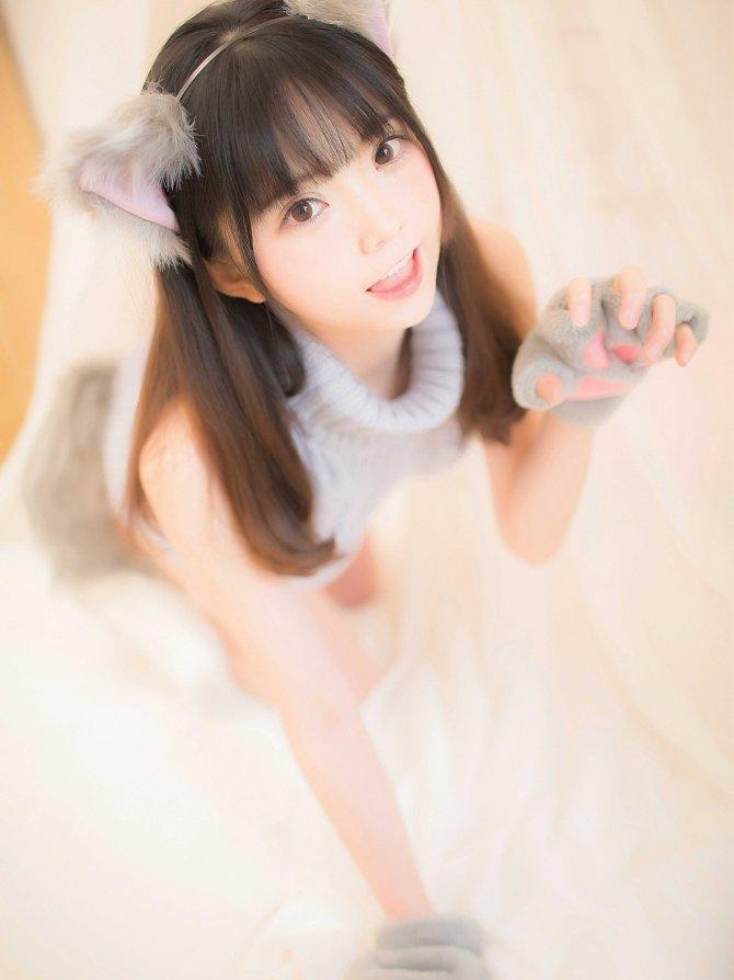 喵糖映画 VOL.274 萌娘的蓝色毛衣 [34P-487MB]