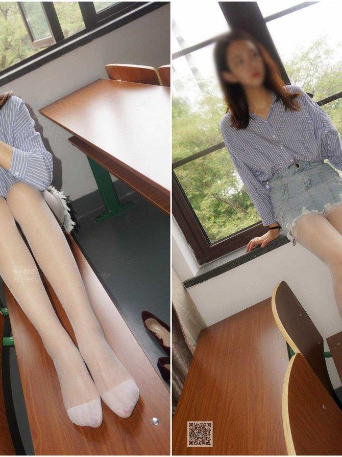 [妖精视觉] 苏苏-白丝袜,一步裙