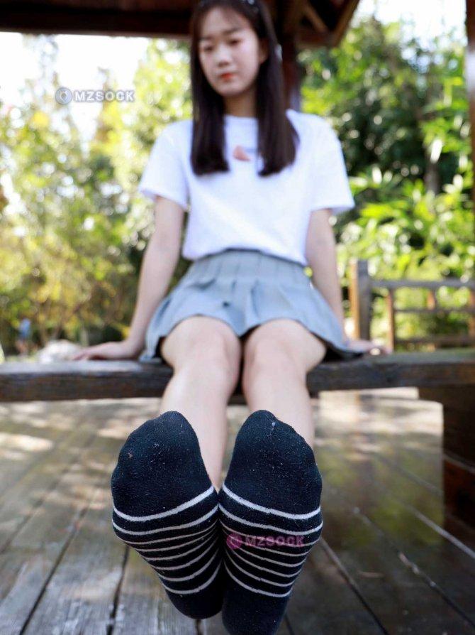 [MZSOCK]爱美足003 慧慧 小白鞋黑色短棉袜