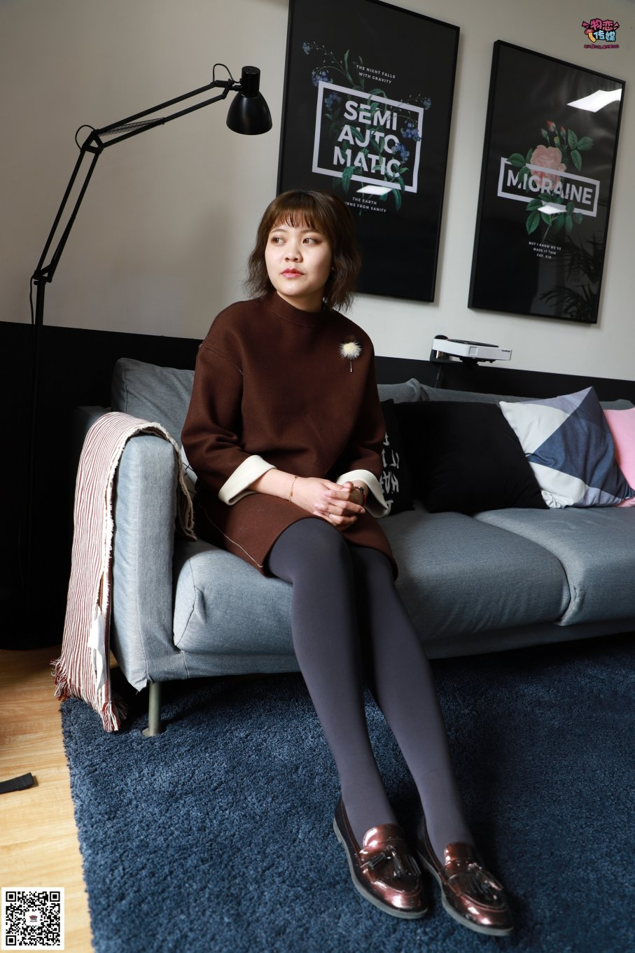 007期:李澈-刚毕业的准幼师(皮鞋、丝袜、棉袜、裸足)