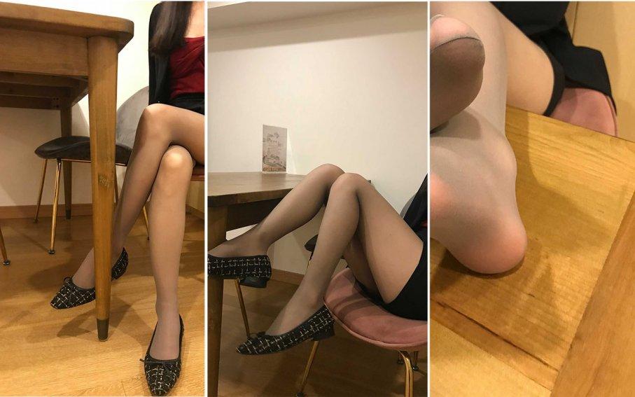【裸足】(挑鞋专辑)久违的女神小捷咖啡厅写真(1)[75P]