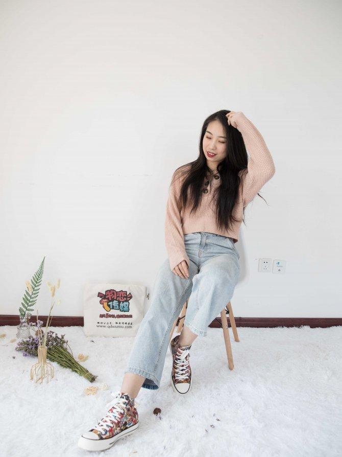 392期:璐璐-蝶如梦(匡威帆布鞋、船袜、裸足)